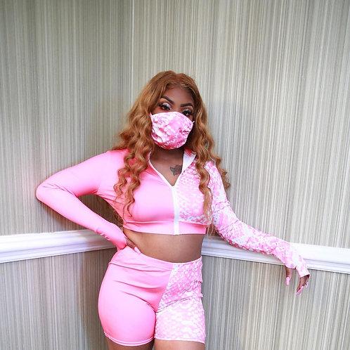Barbie Mask Short Set