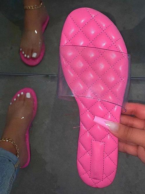 Pink cushion Slides