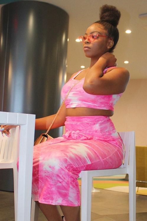 Pink Tie Dye 2 piece set