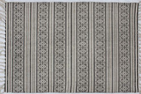 Cotton Rug - Cotton Lotus Stripes