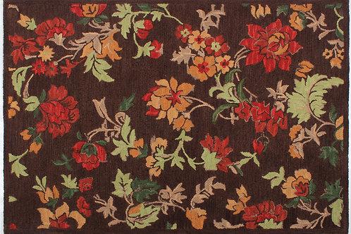 Wool Handhooked Begonia