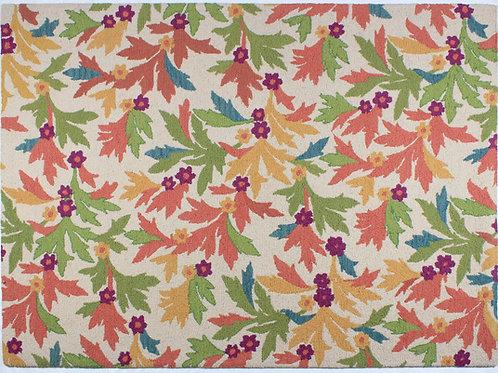 Wool Handhooked Festive Foliage