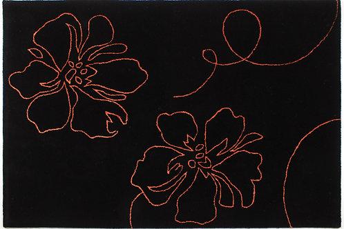 Wool Handtufted Hibiscus