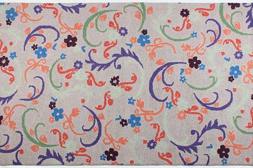 Wool Handhooked Twist & Twirl