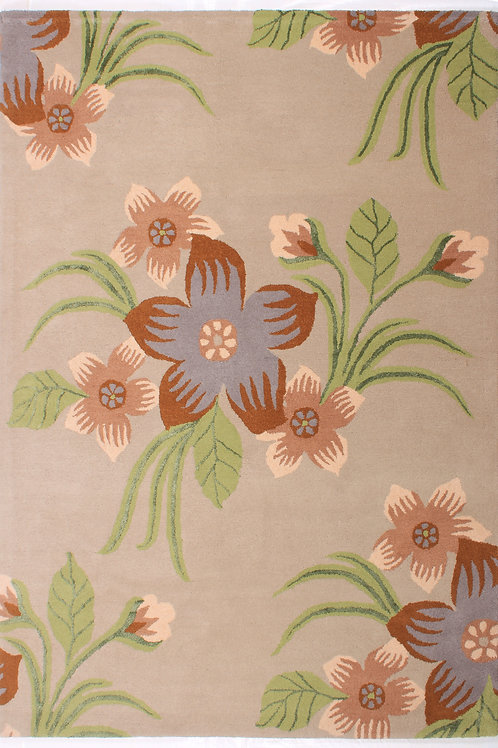 Wool Handtufted Floral