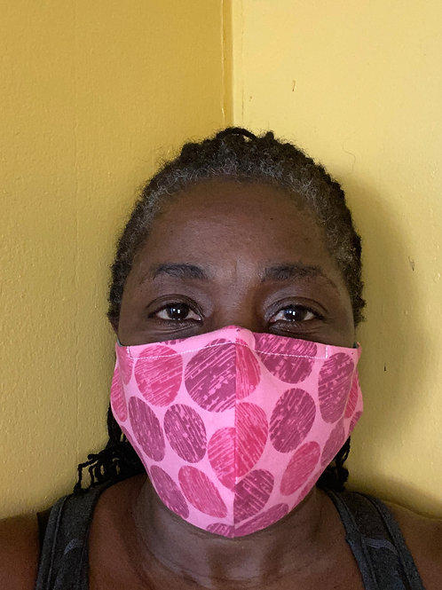 Pink dotted face mask