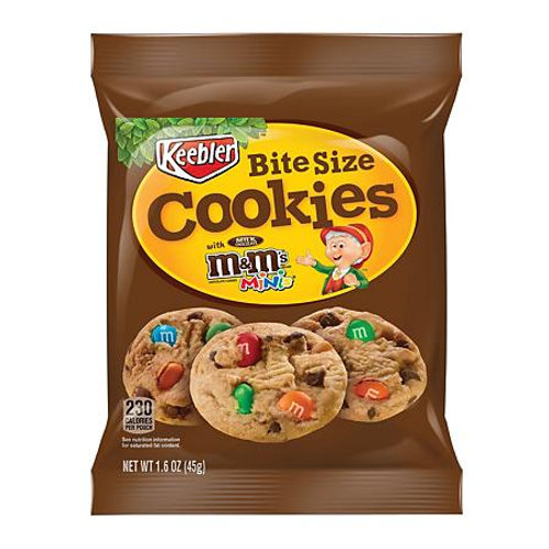 Kebblers Bite Size M&M Cookies