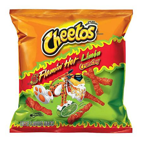 Cheetos Flamin Hot Limon Crunchy