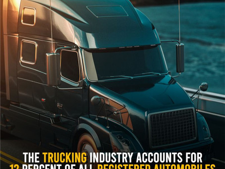 Trucking Accounts For 12% Of All Registered Automobiles In The USA