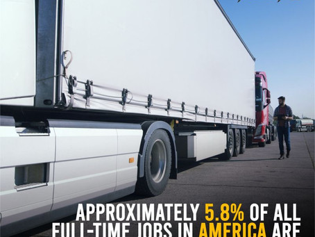 5.8% Of Full Time Jobs In America Is Trucking