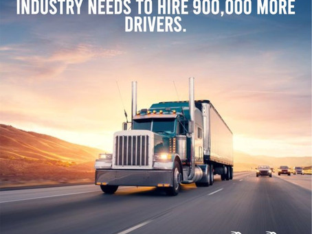 Many Experts Thinks The Trucking Industry Needs To Hire 900,000 More Drivers
