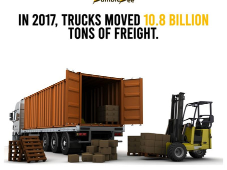 In 2017, Truckers Moved 10.8 Billion Tons Of Freight