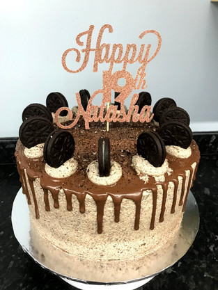 Oreo buttercream chocolate cake with bespoke topper
