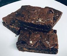 Our beautiful salted caramel brownies.jp