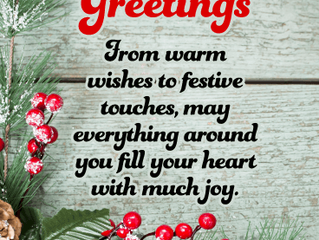 Warmest Season's Greetings to the World