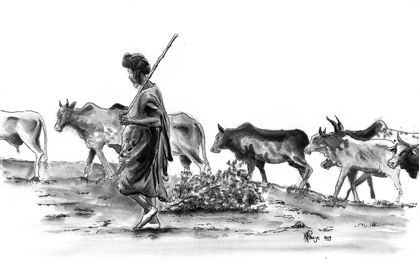 Regard-Regard-Fleuve Niger-Mali-Sahel-Fl
