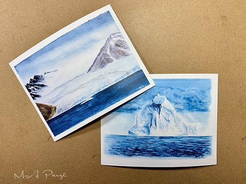 Cartes postales d'expédition (série de 6)