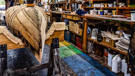Visite d'un atelier de canot traditionnel