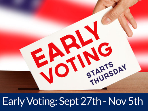 Early Voting begins September 27th