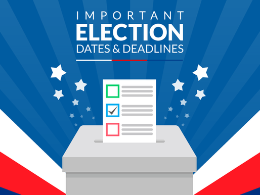2018 General Election Dates & Deadlines