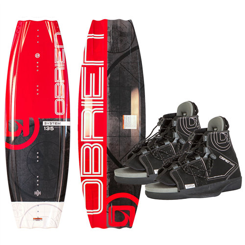 Red System with Clutch 4-8 Bindings & Blue Core Surf Rope