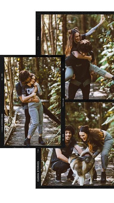 Monochrome Couple Photos Polaroid_Film F