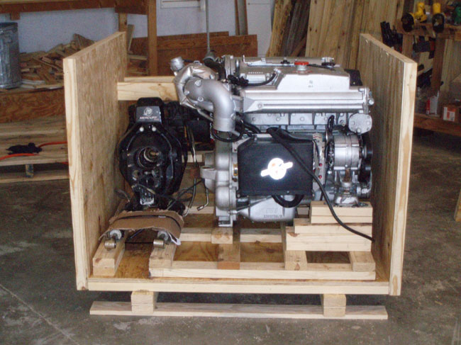 Shipping crate engine