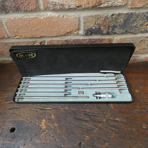 Moore & Wright No 903 Inside Micrometer Set - 10 Rods