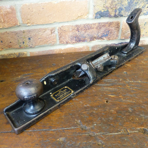"An Unusual 17"" Iron V Grooving Plane"