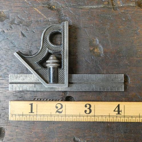"""Small 4"""" Combination Square - The L.S.S. Co."""