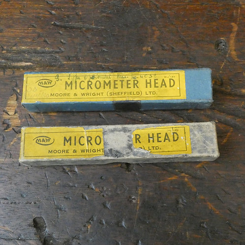2 x Moore & Wright Micrometer Heads - No 952 - Metric & Imperial