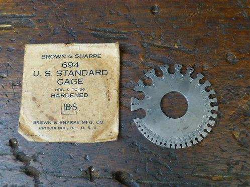Brown & Sharpe 694 Standard Gage