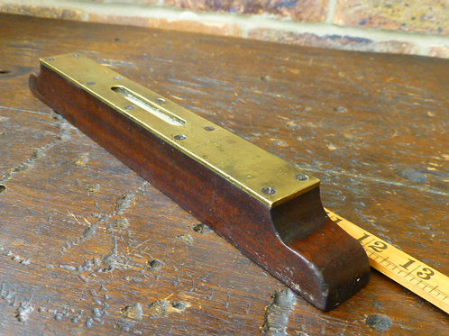 A Vintage Rosewood & Brass Level 12 1/2 inch