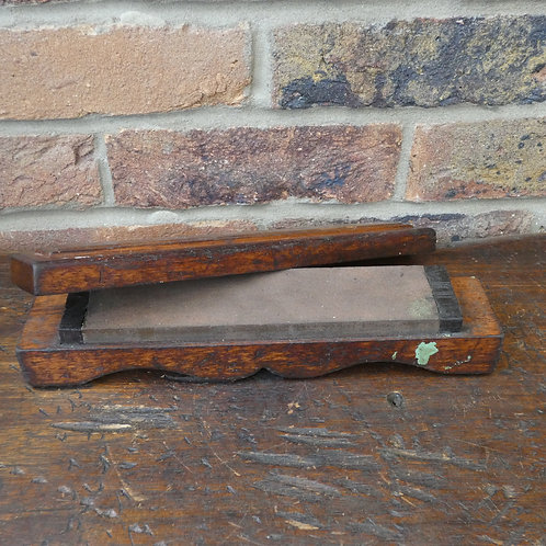 Sharpening Honing Stone in Decorative Wooden Box