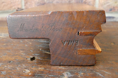 3/4 Double Boxed Moulding Plane, Martin & Shaw