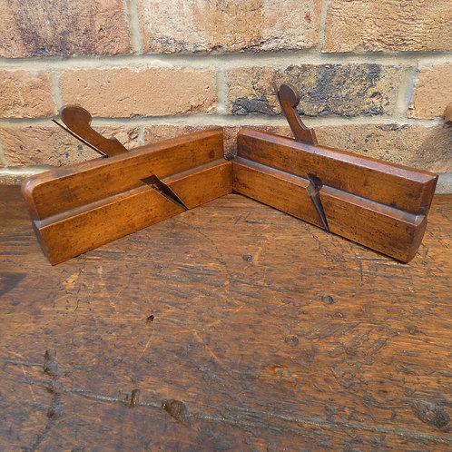 A Pair of No 13 Hollow & Round Planes -  B Brown
