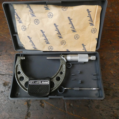 An Excellent Boxed Mitutoyo 50-75 Outside Micrometer