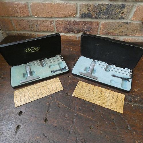 Metric & Imperial Boxed Moore & Wright Depth Gauge Micrometers