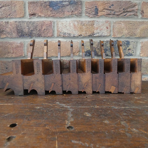 A Set of 9 Side Bead Moulding Planes - Griffths, Norwich