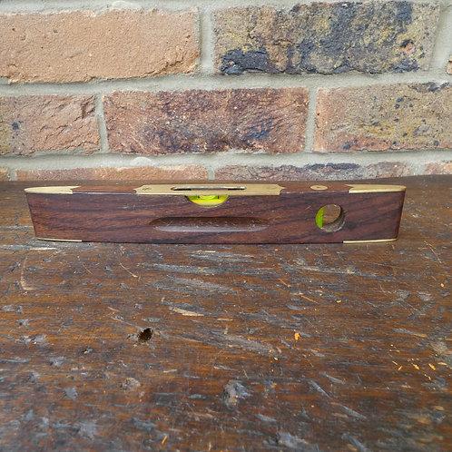 Decorative Rosewood & Brass Boat Level