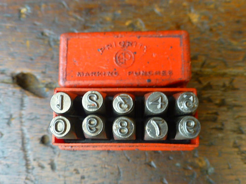 Set of 4mm Number Stamps by Priority