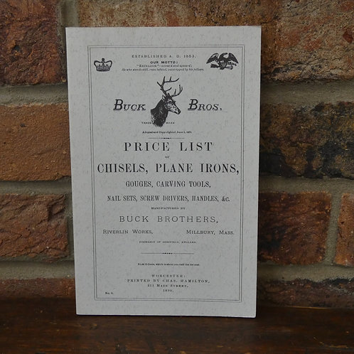 Buck Brothers Price List Paperback Book