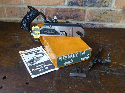 Stanley No78 Duplex Rabbet Plane