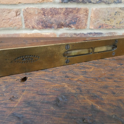 """A 10"""" Long Rosewood & Brass Level - James Howarth Sheffield"""