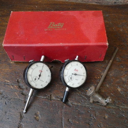 x2 Dial Gauges By Baty
