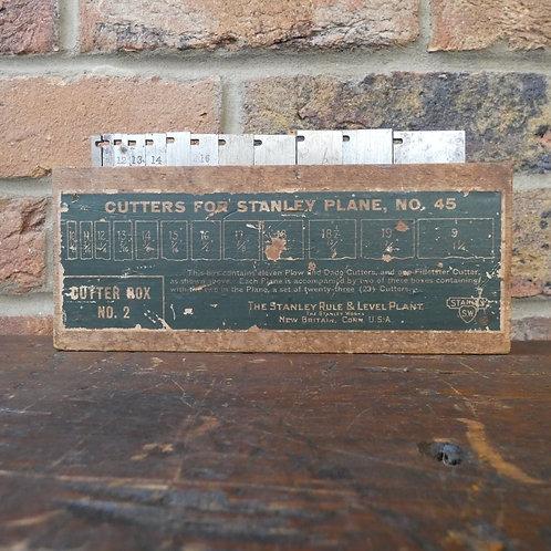 Stanley No45 Plane Cutter Box No2