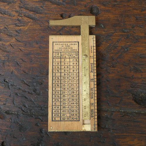 A Fine Rabone No 1206 Rope Gauge