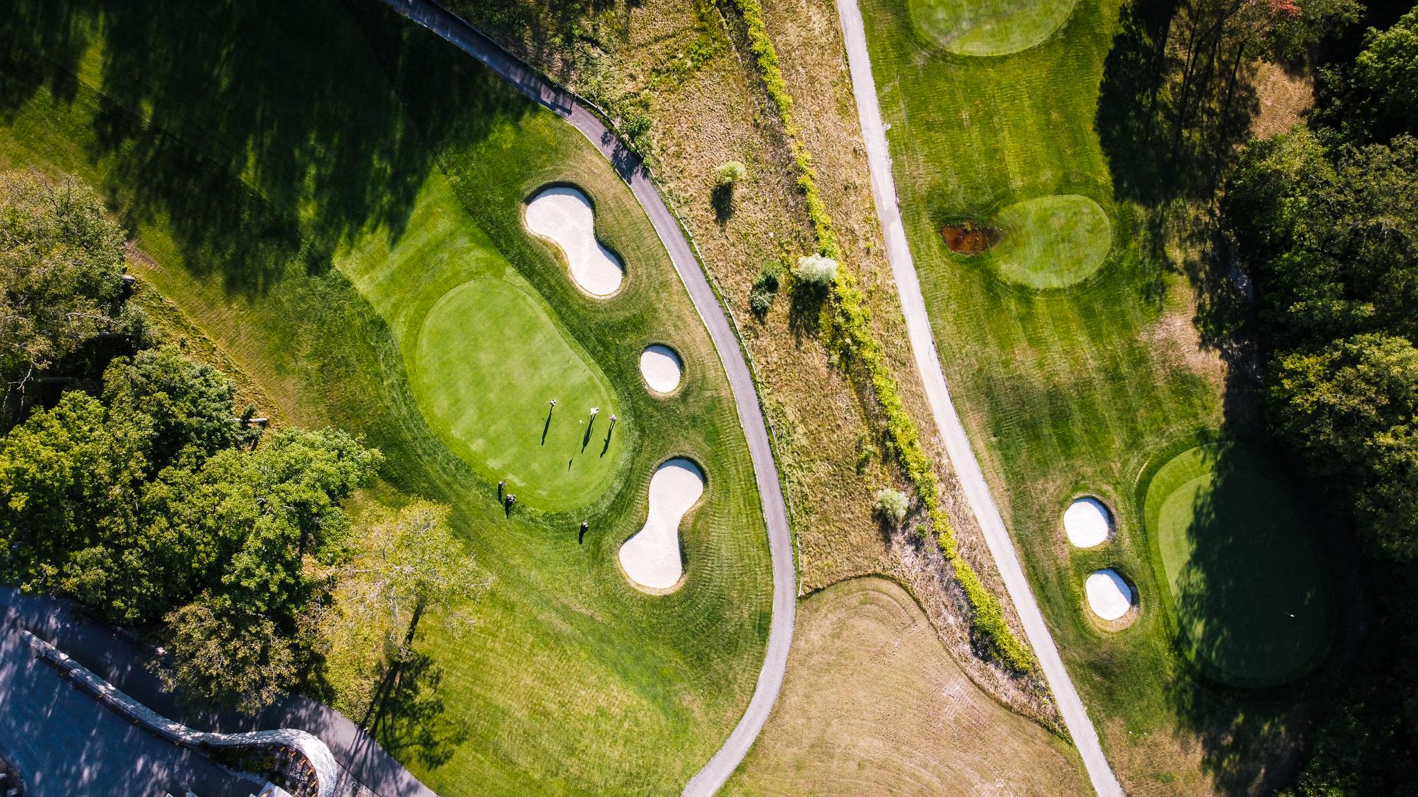 Vespra Hills golf Course Overhead