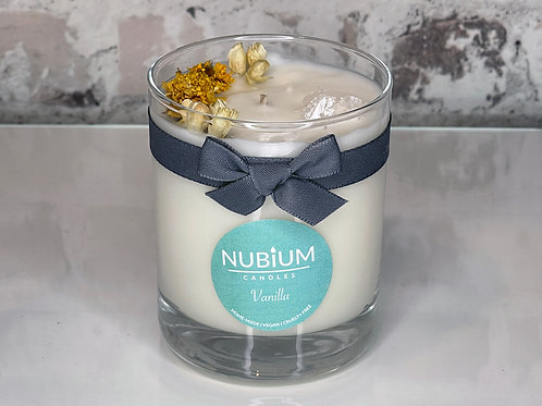 Vanilla Crystal Infused Candle