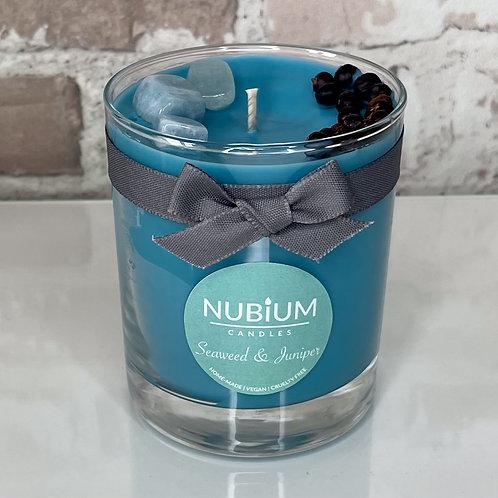 Seaweed & Juniper Crystal Candle